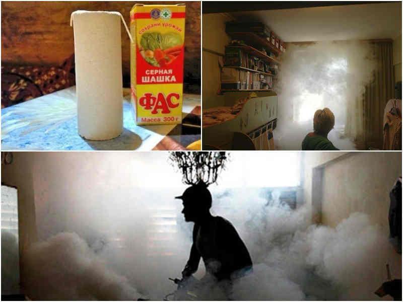 Дымовые шашки для уничтожения тараканов