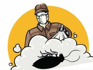 холодный туман от тараканов концепция