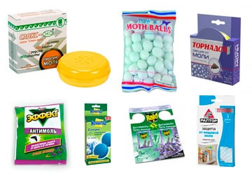 химические препараты от моли