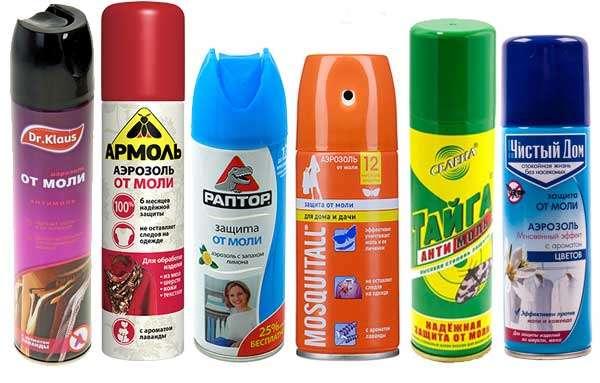 химические средства от моли