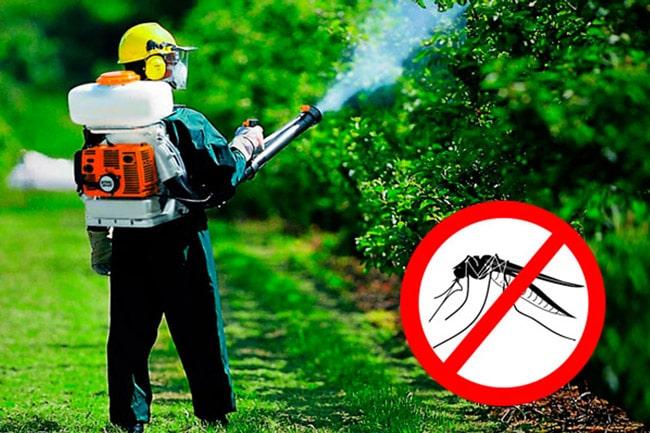 обработка участка от комаров инсектицидами